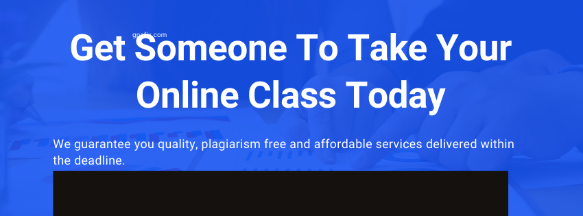 Take my Online Class for Me