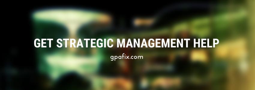 strategic managemnt help